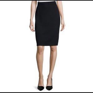St John 8 black knit Santana pencil skirt